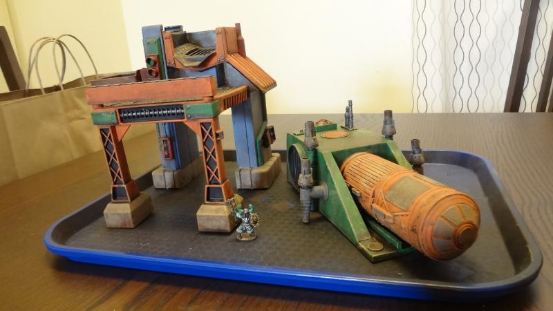 Sci-fi Industrial Buildings from Old Plastic Toys – Chicago
